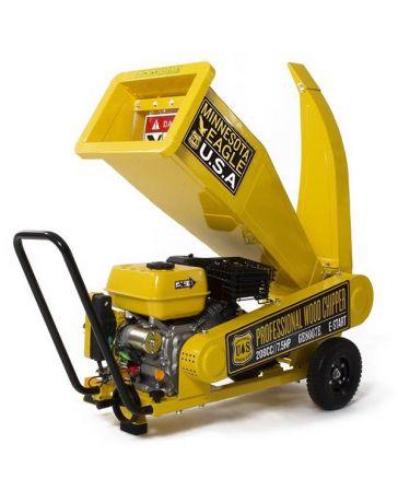 Biotrituradora de gasolina con motor de 4 tiempos y potencia de 208 cc.