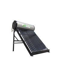 Calentador solar de agua con acumulador eléctrico digital 120 litros