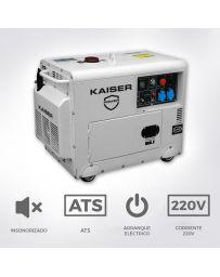 Generador Kaiser Diesel Insonorizado 7,2Kw | Generadores electricos