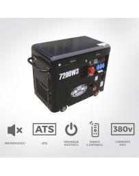 Generador diésel insonorizado de 7,2 Kva Trifásico | Generadores eléctricos