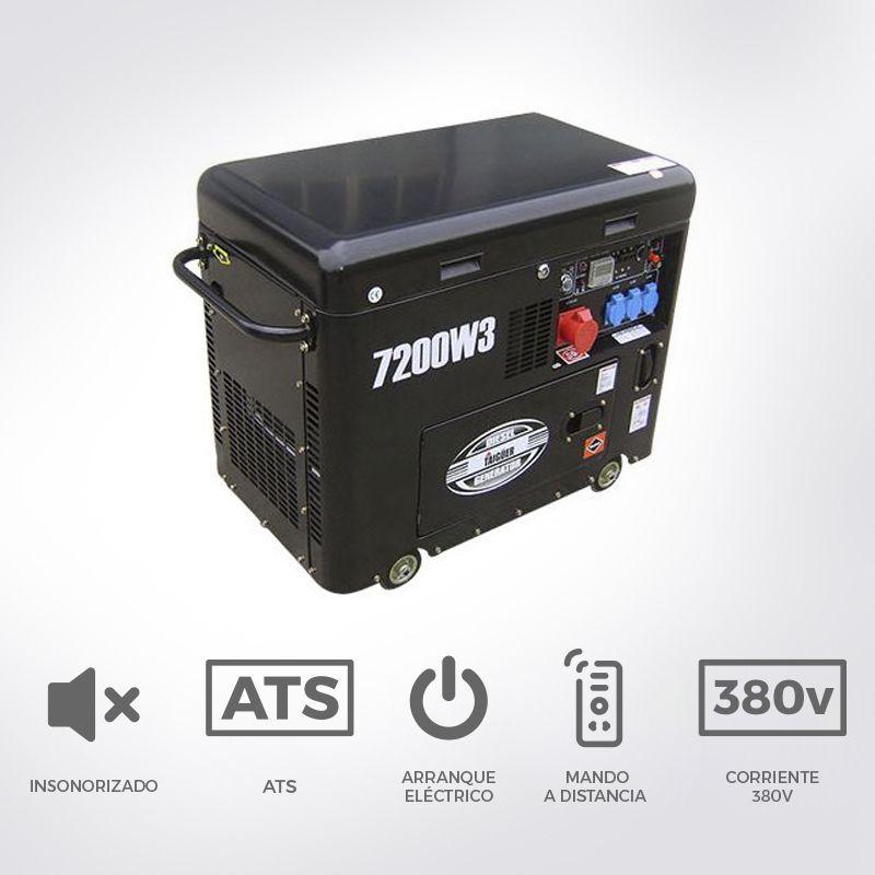 Generador di sel insonorizado de 7 2 kva trif sico - Generador electrico barato ...