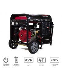 Generador eléctrico monofásico con motor de gasolina de 7.000 W