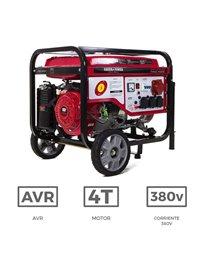 Generador eléctrico trifásico con motor de gasolina de 7.000 W