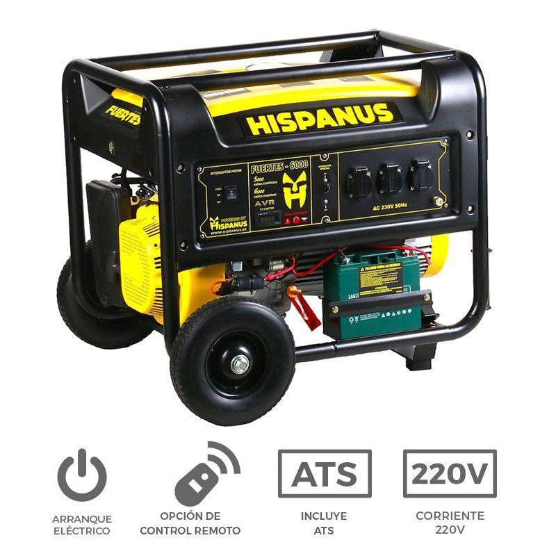 Generador gasolina fuertes 6000wp autom tico y control remoto for Generador arranque automatico