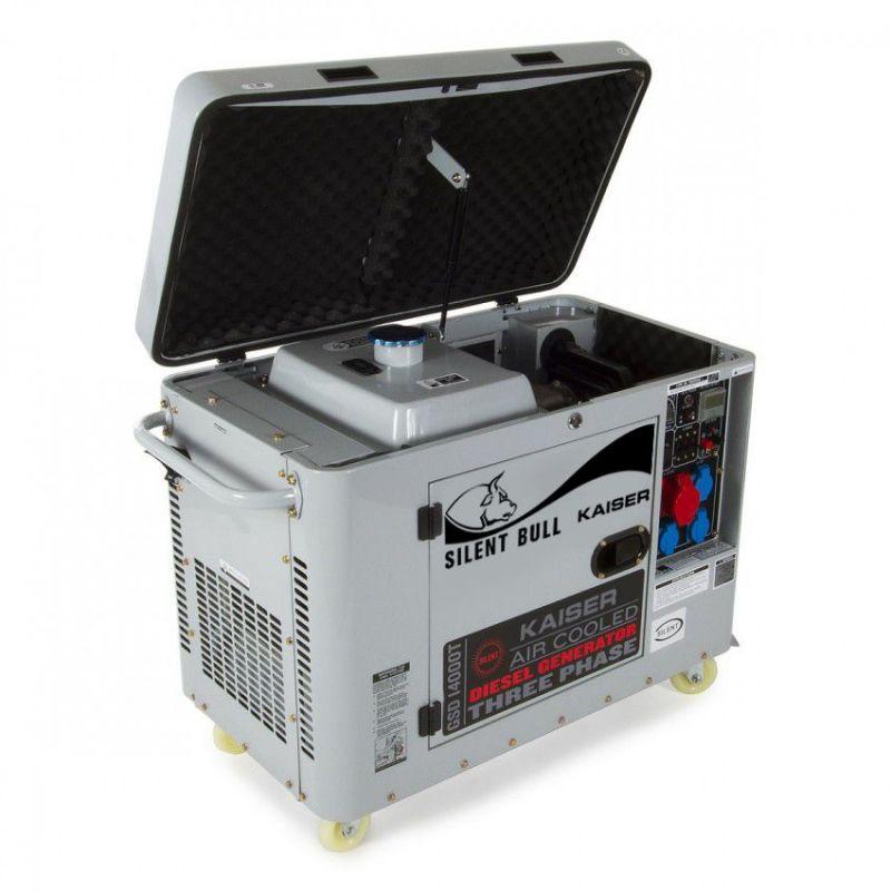 Generador 13kw insonorizado kaiser silent bull pro for Grupos electrogenos kaiser