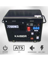 Generador Kaiser Diesel trifásico 7200w insonoro