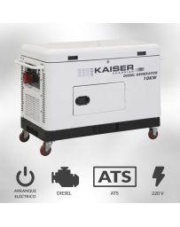 Generador eléctrico monofásico diesel Kaiser Guardian 10000w