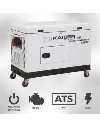 Generador eléctrico monofásico diesel Kaiser Guardian 15000w