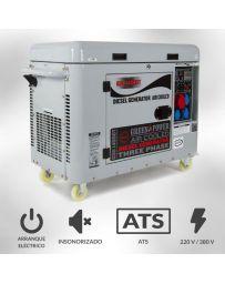 Generador eléctrico trifásico diesel 6000w insonorizado