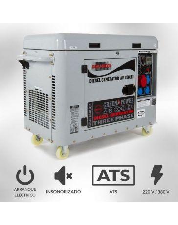 Generador Diésel insonorizado 6000W trifásico| Generadores eléctricos