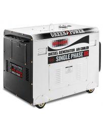 Generador electrico silencioso monofasico motor diesel potencia 420cc