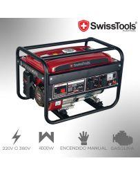 Generador Eléctrico 4000W Swiss Tools Automatic | 220V-380V Gasolina
