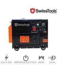 Generador Eléctrico Swiss Tools  6500W Diesel Insonorizado