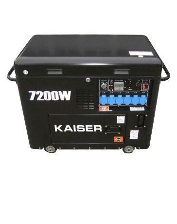 Generador  Diésel 7200w insonorizado Kaiser