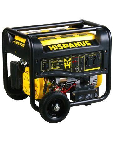 Generador eléctrico gasolina 6000w Hispanus monofásico