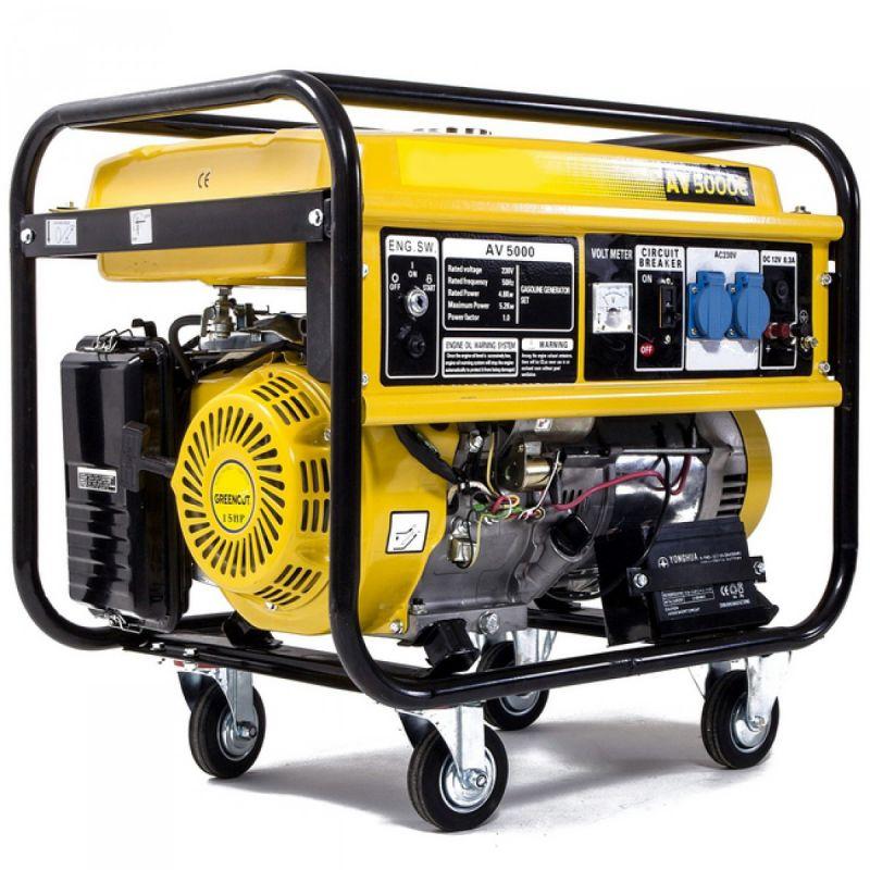 Generador el ctrico de gasolina av 5000e con una potencia - Generadores de gasolina ...